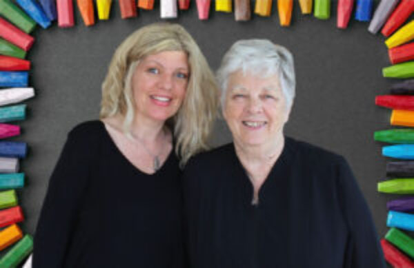 Hi! We are Andrea & Jantje - the Daughter/Mother Co-Founders of KinderArt!