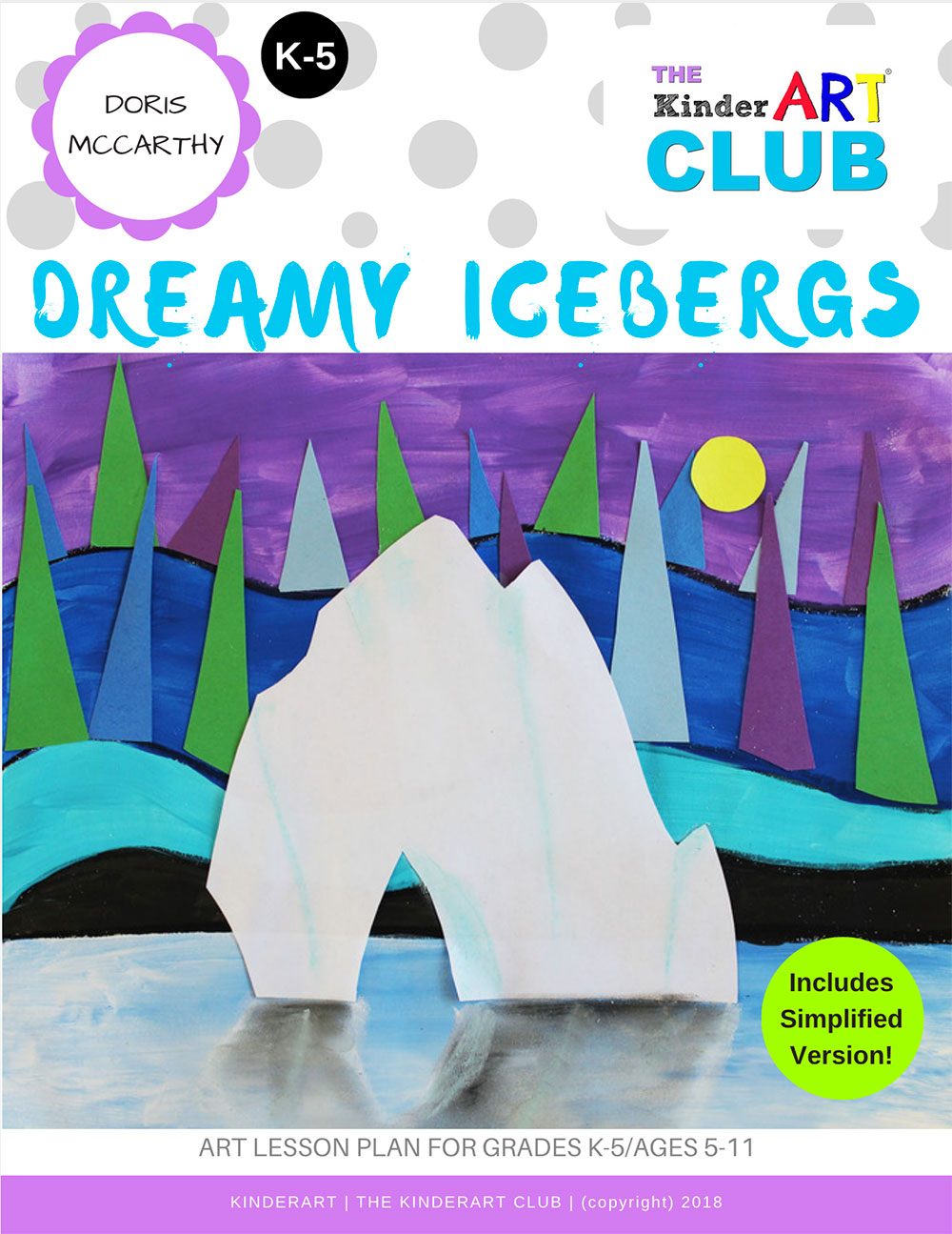 Become a member of The KinderArt Club - art lesson