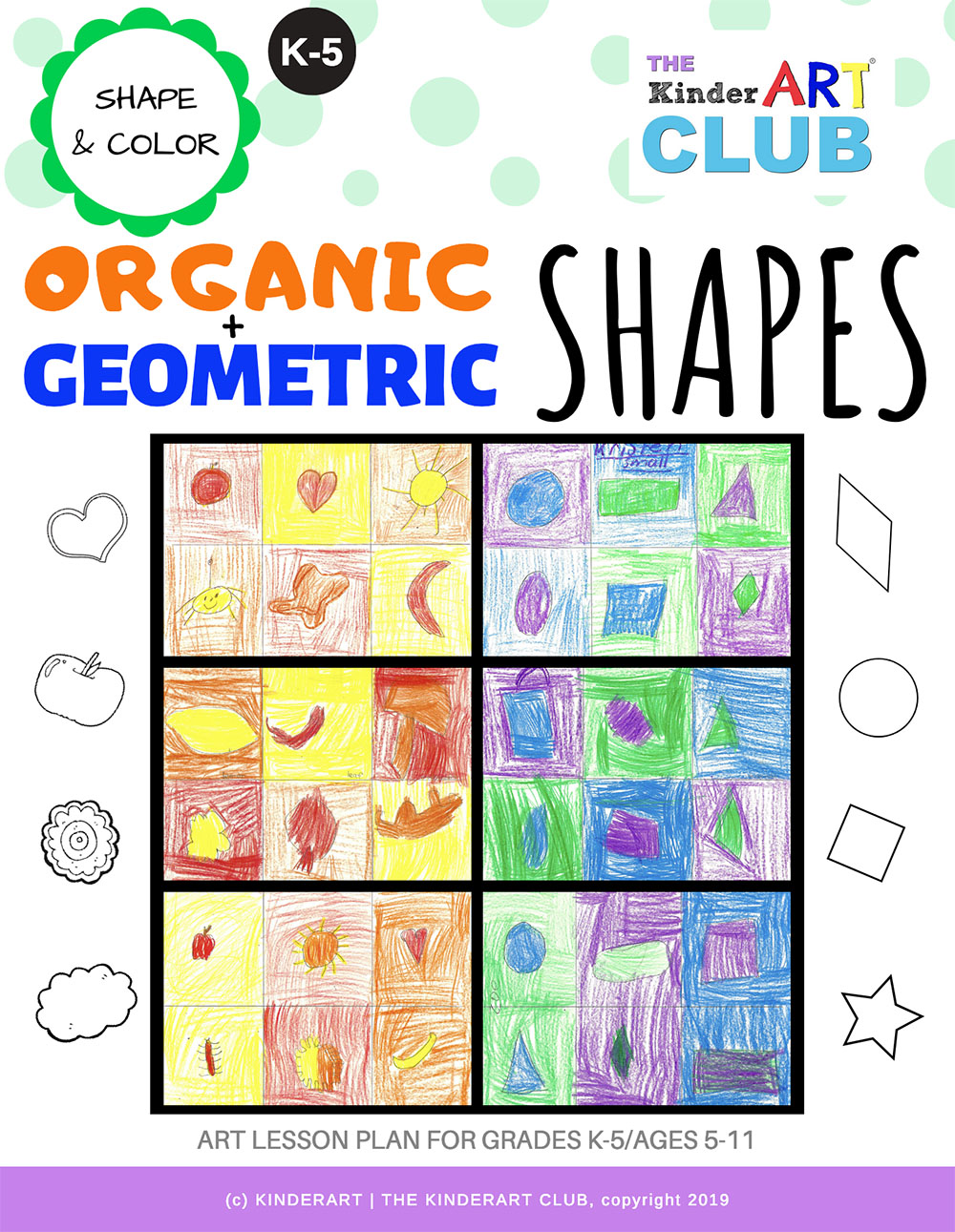 Bonus Organic And Geometric Shapes The Kinderart Club